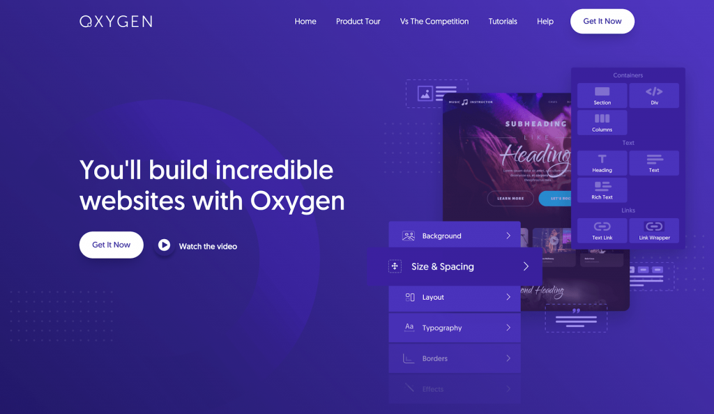 Oxygen WordPress page builder